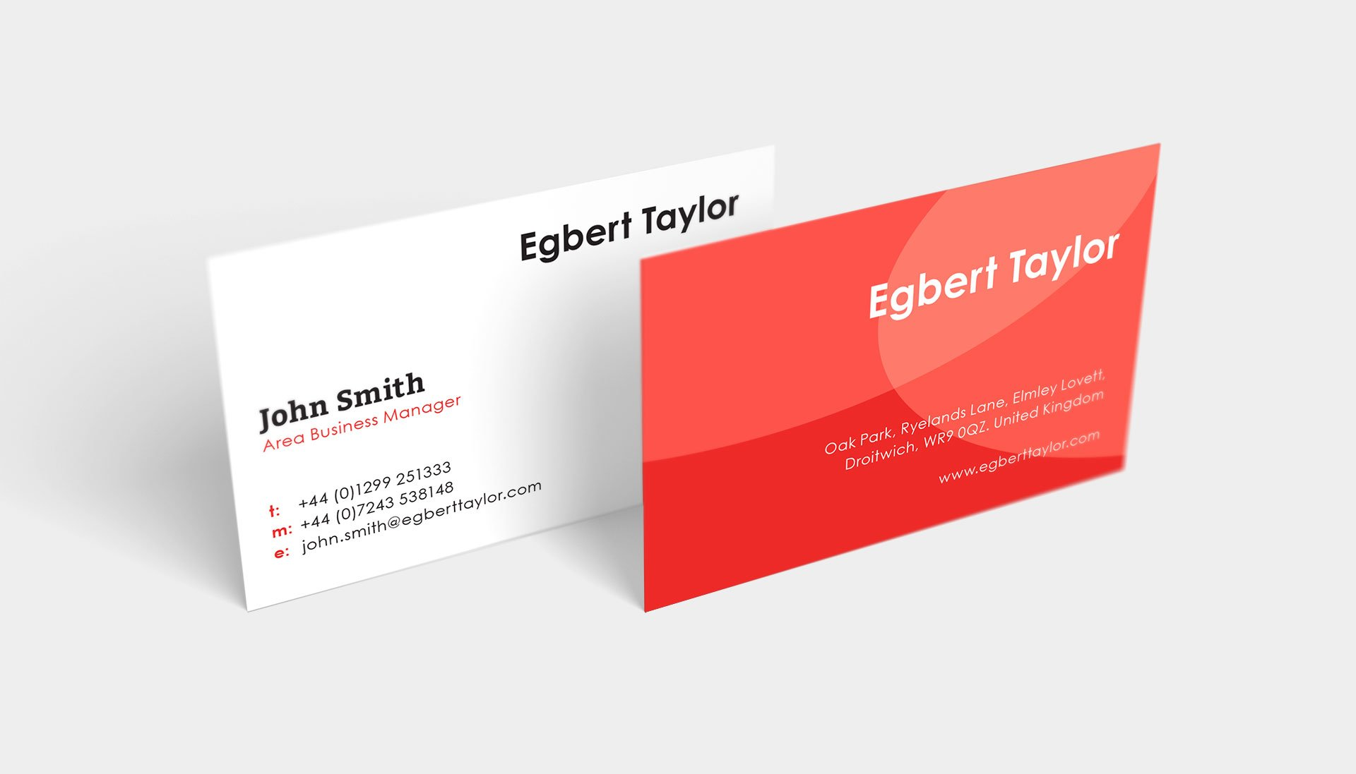Egbert Taylor Business Cards