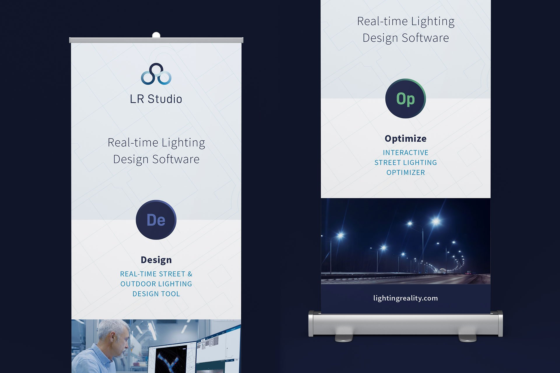 Lighting Reality Roller Banner