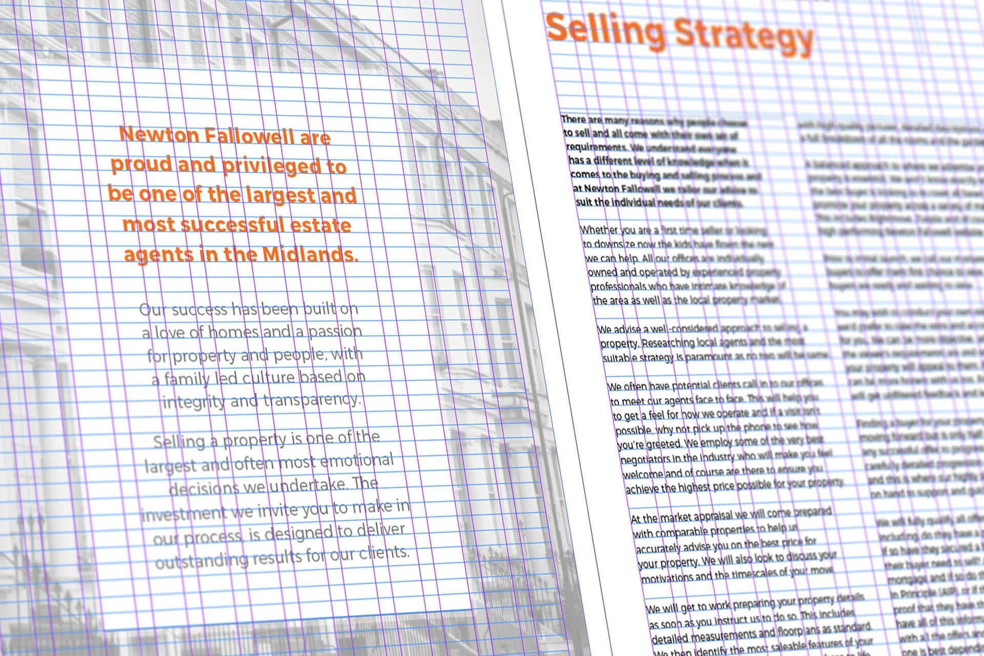 Newton Fallowell Brochure Grid Layout