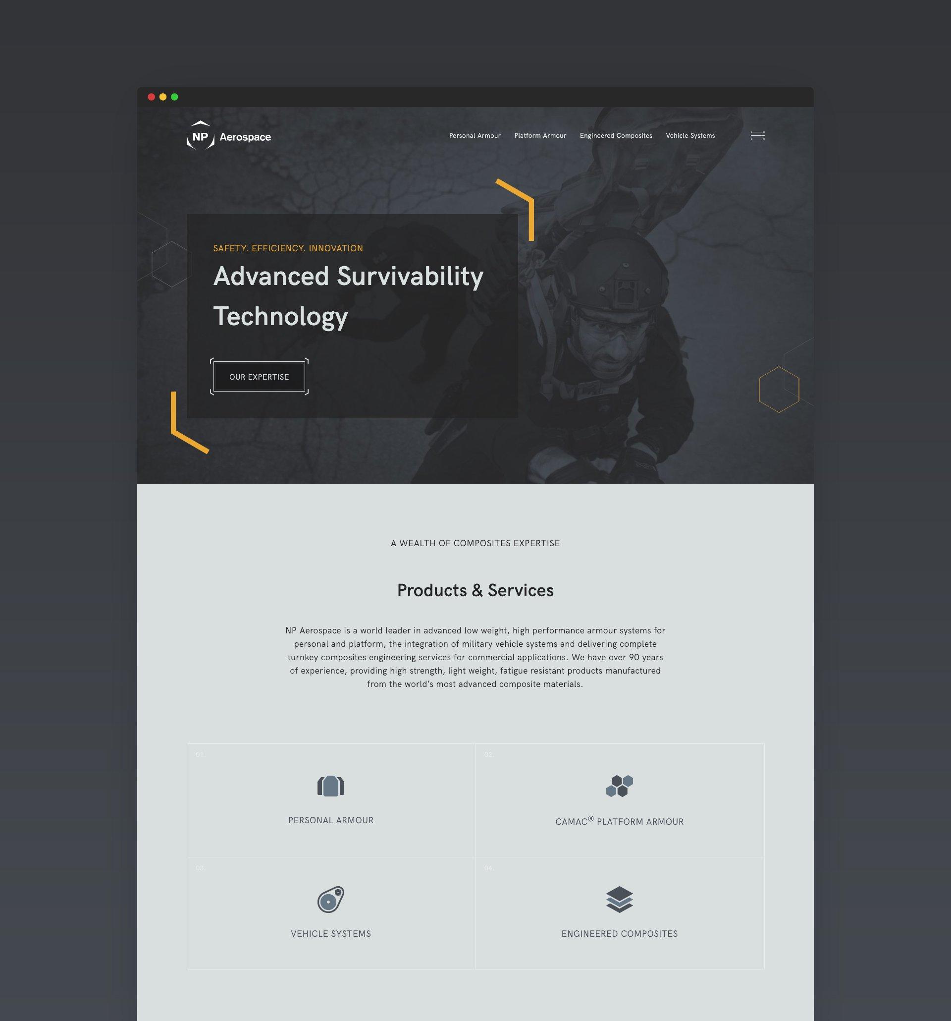 NP Aerospace Website