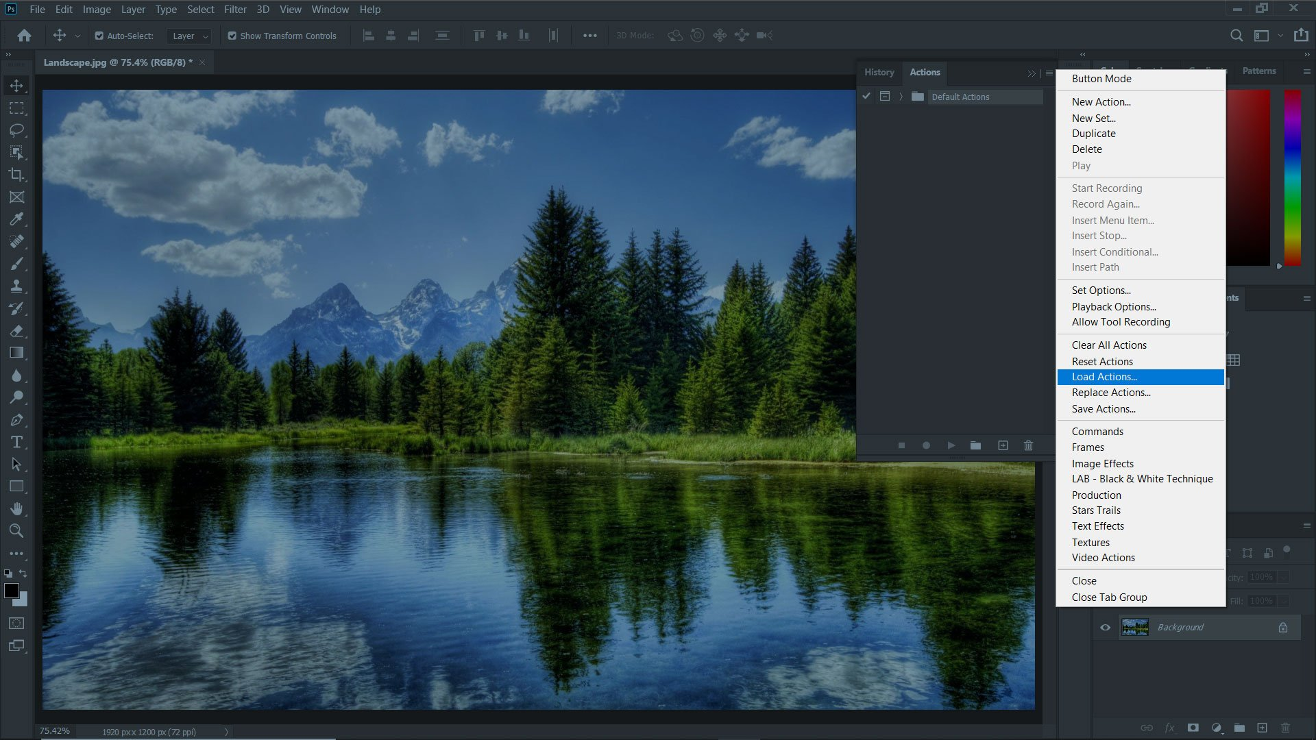 Installing A Photoshop Action Step 2
