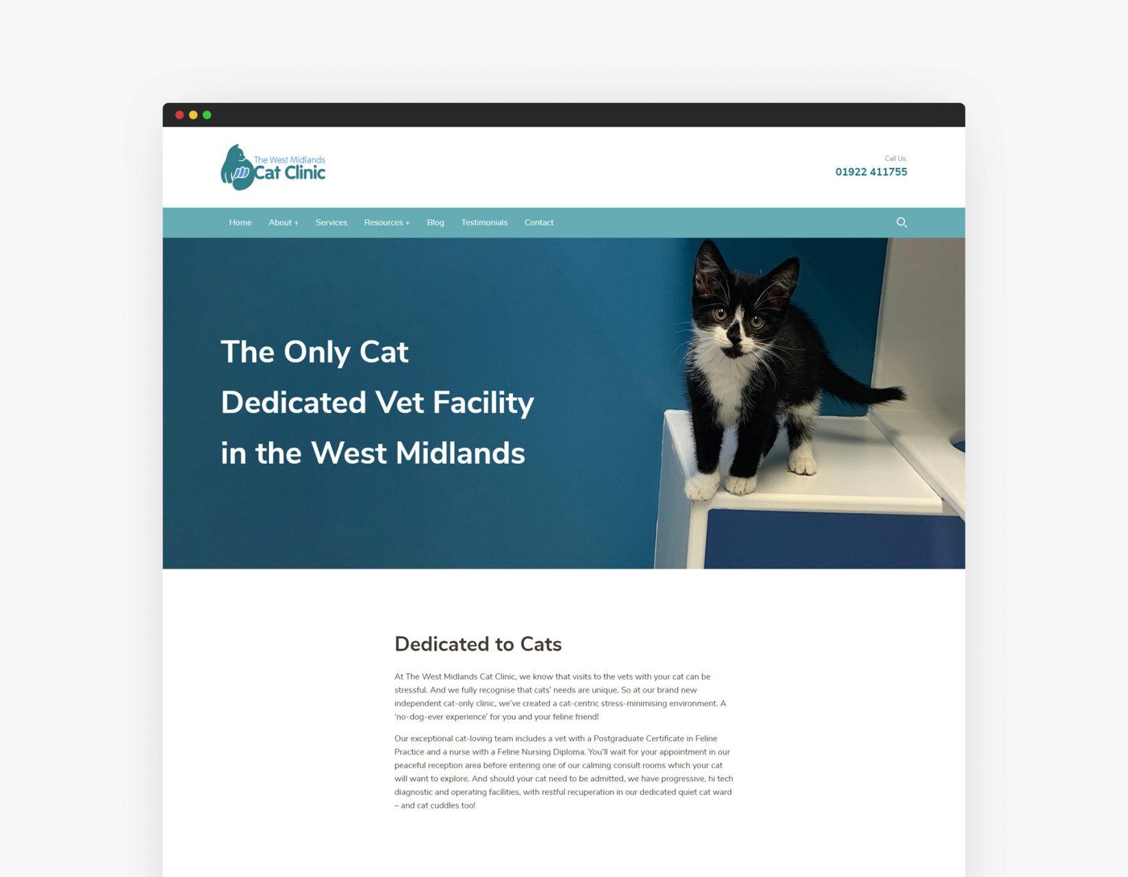 West Midlands Cat Clinic Website